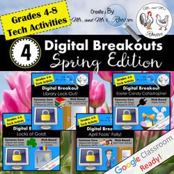 Digital Breakout Escape Room Spring Bundle Mr and Mrs Rooster