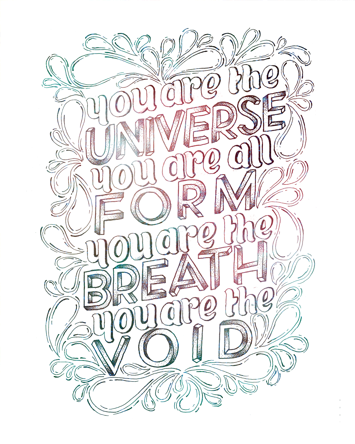 You Are The Universe Print - Color