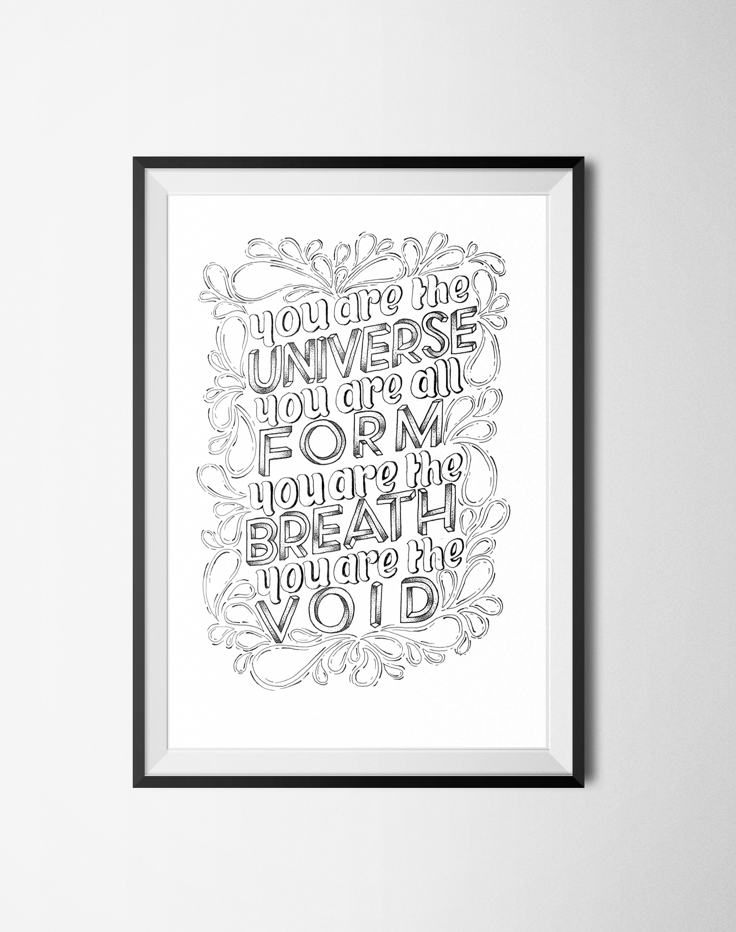You Are The Universe Print