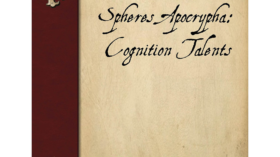 Spheres Apocrypha: Cognition Talents