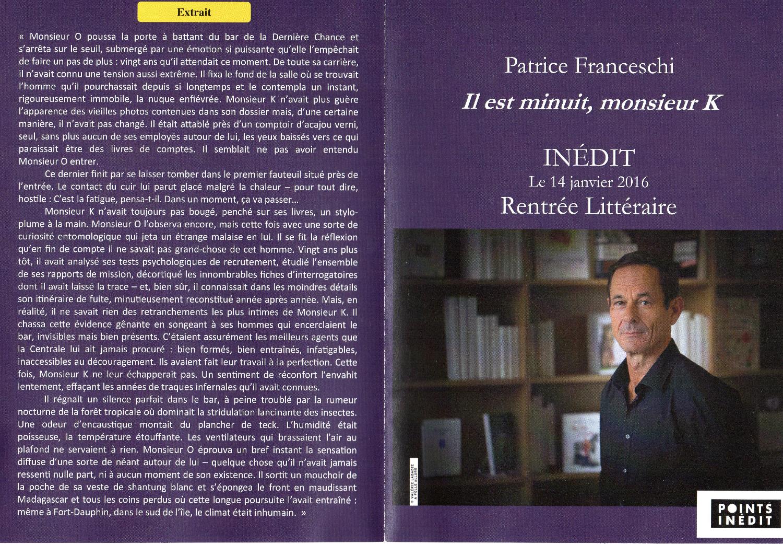 Patrice Franceschi livre