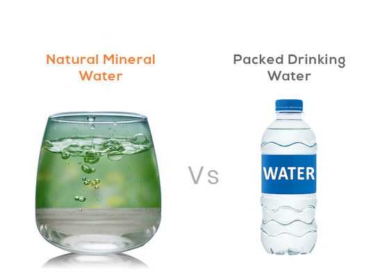 Natural Mineral Water vs Packaged Drinking Water