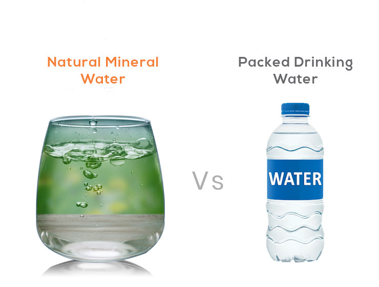 natural mineral water vs packed drinking water