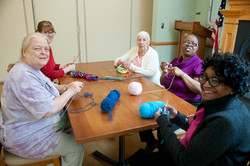 Knitting and Embroidering