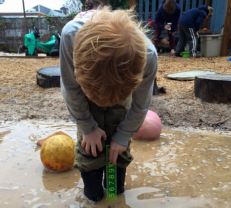 A student is enjoying an outdoor activity in the water