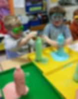 These students are enjoying a science experiment