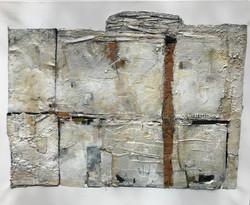 Aged stone wall.