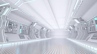 Intérieur d'un vaisseau spatial