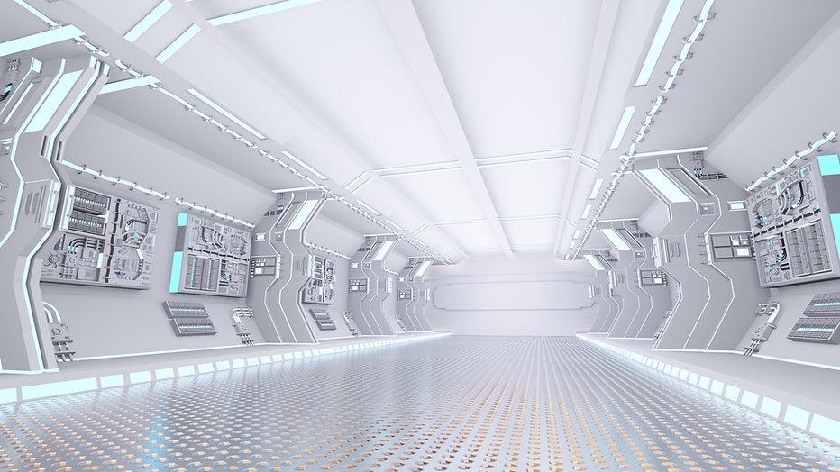 Innerhalb eines Raumschiffes