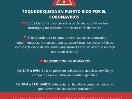 Resumen del Toque de queda en Puerto Rico