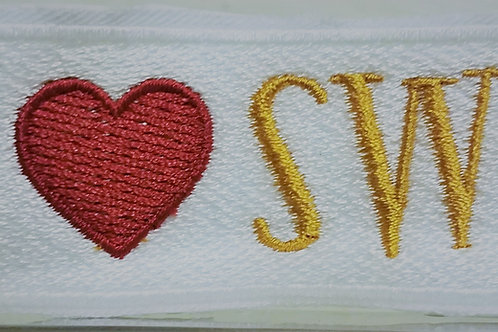 I love SWP patch/blank rectangle patch/heart design