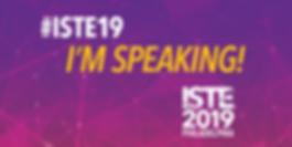 I'm speaking at ISTE 2019 in Philadelphia!