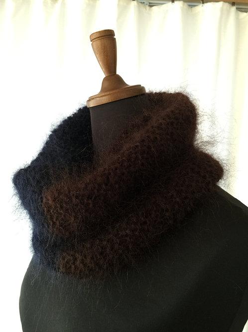 最高級トルコモヘア100%かぎ針手編みスヌード