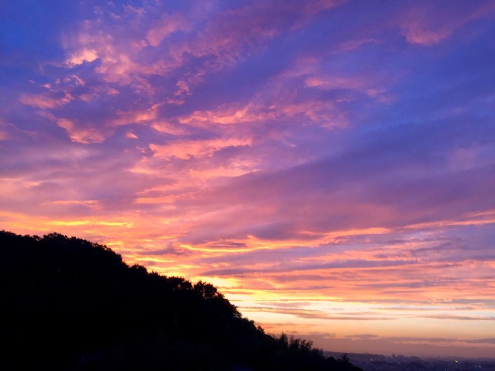 もぐの森の夕日2