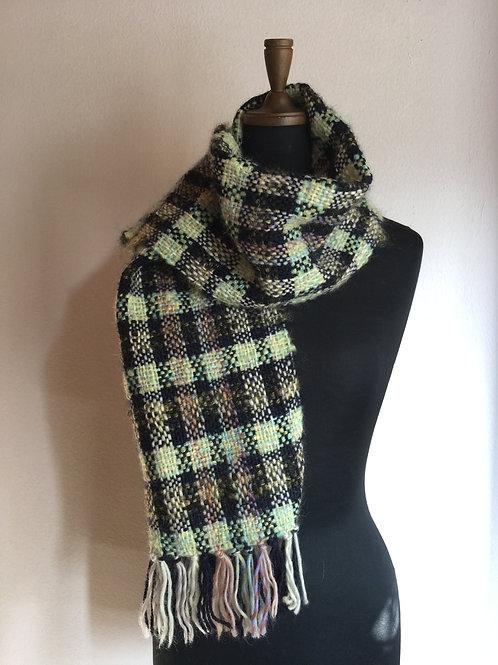上質ウール手織りマフラー
