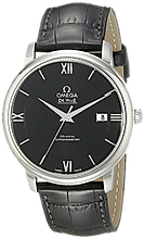 Omega  Stainlesss Steel Watch with Black