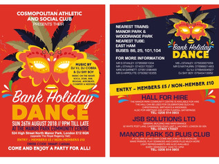 Bank Holiday Dance - Manor Park