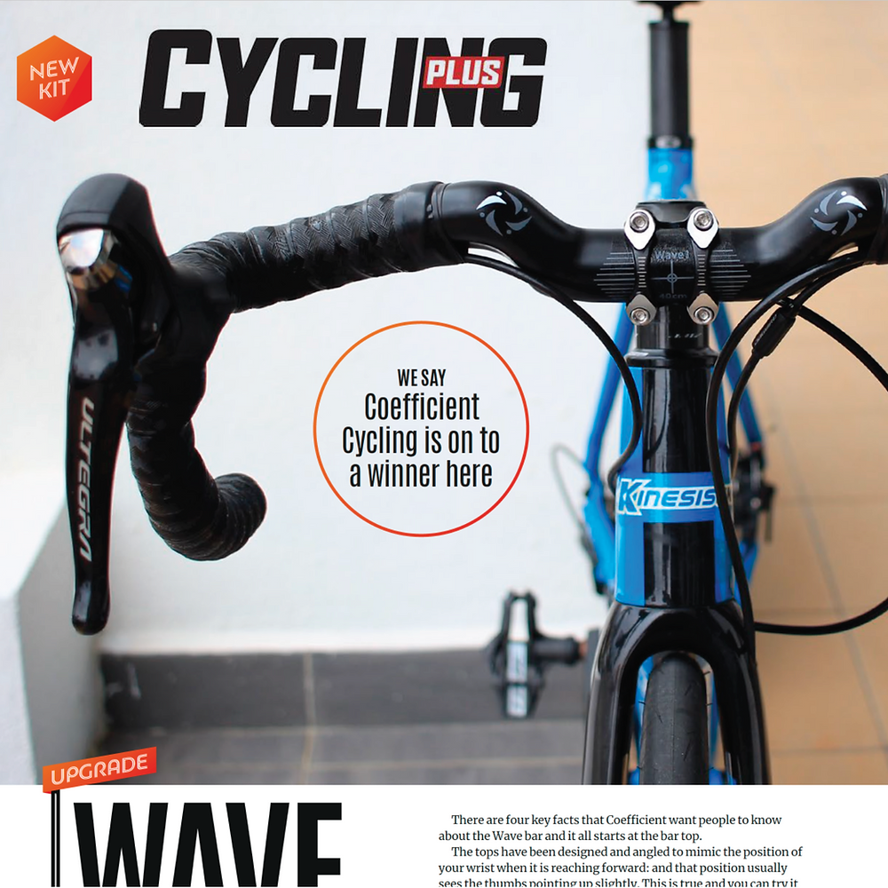 Cycling Plus reviews Coefficient Cycling's Wave Handlebar