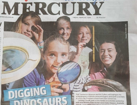 Girls Dig DEEP for Dinosaurs