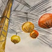 lanterns vietnam travel sketches