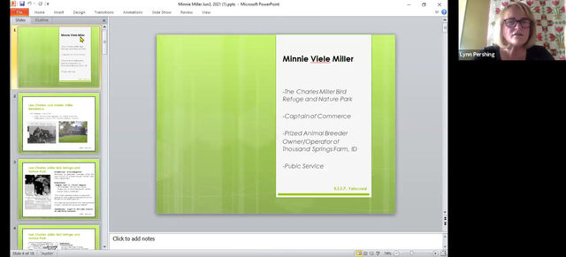 """Notable Yalecrest resident Minnie Viele Miller, """"Captain of Commerce"""""""