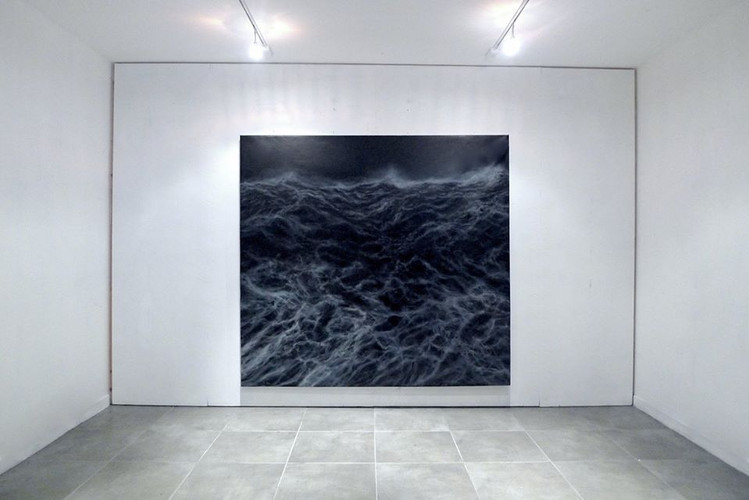 "200 x 200 cm huile sur toile ""Le mur"" Franco Salas Borquez Galeria ANIMAL"