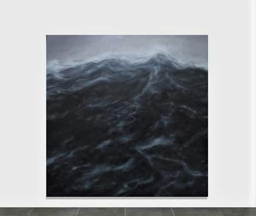 """200 x 200 cm  huile sur toile 7600 E """"La ligne"""" Franco Salas Borquez"""