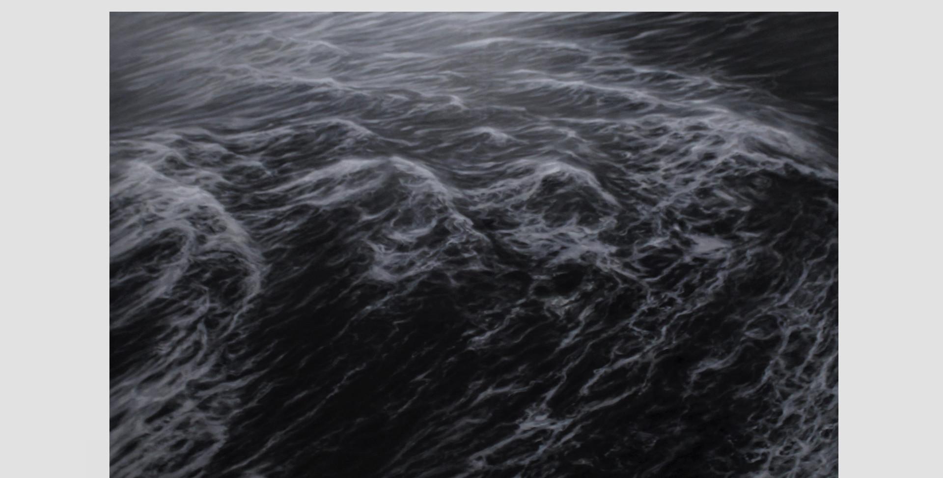 """200 x 300 cm huile sur toile 10.000 E """"La marche des flots"""" Franco Salas Borquez"""