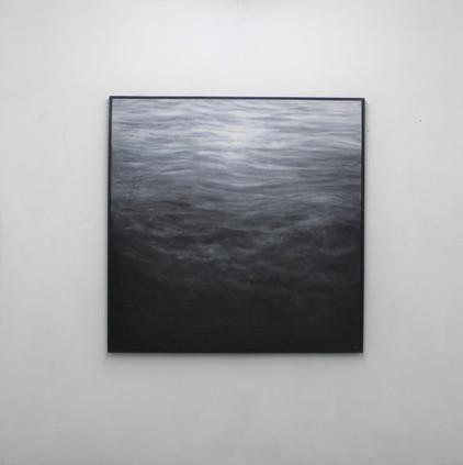 """130  x 130 cm huile sur toile 3800 E """"Ilumination"""" Franco Salas Borquez"""