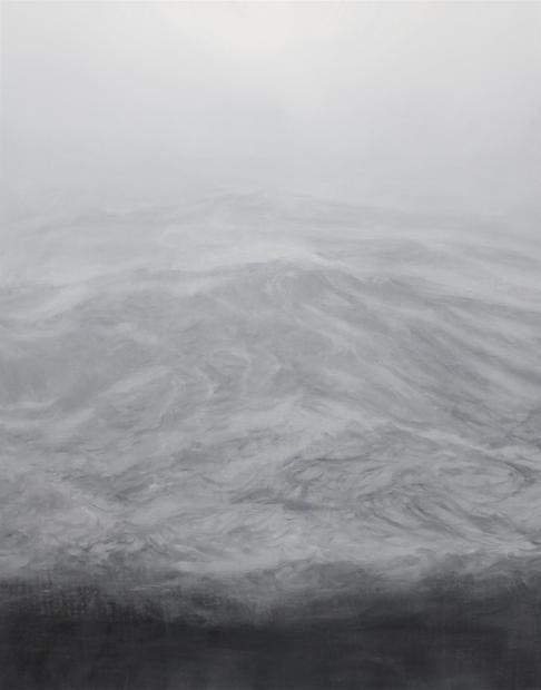 la brume 92 X 73 cm 2021 HUILE SUR TOILE