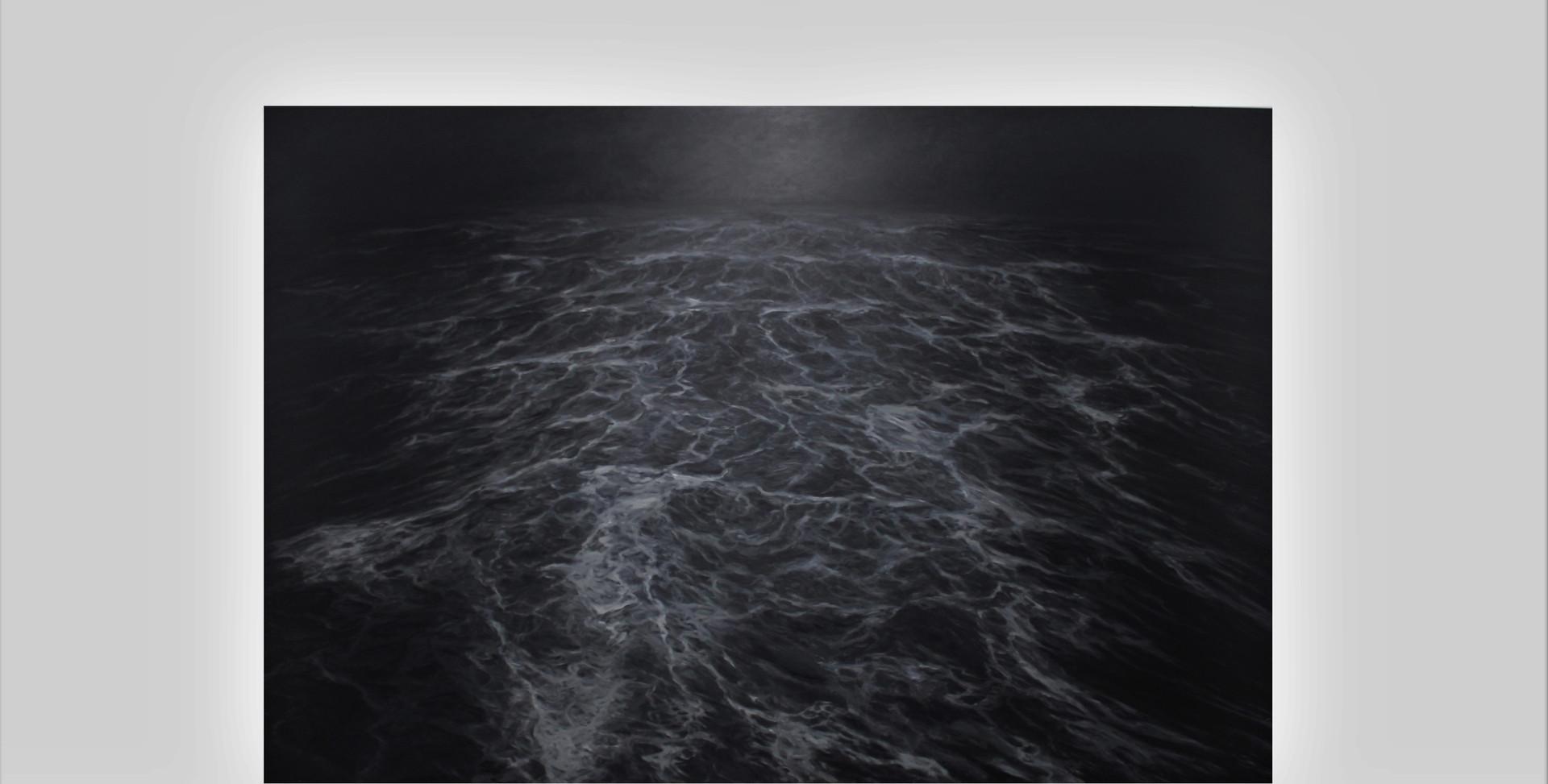 """200 x 300 cm huile sur toile 10.000 E """"Le Sillage"""" Franco Salas Borquez"""