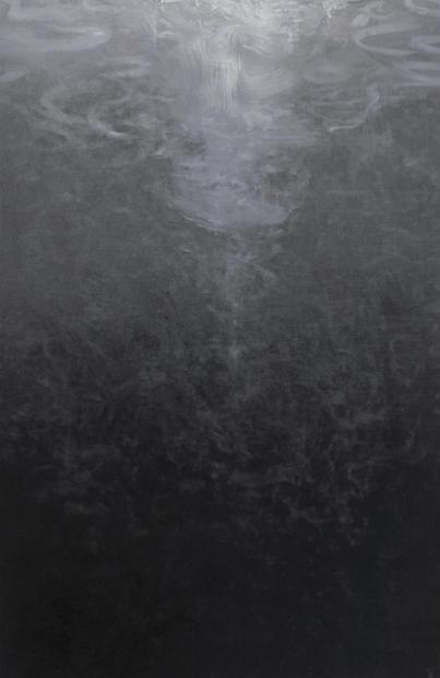 LE PROFOND 100  x 73 cm huile sur toile