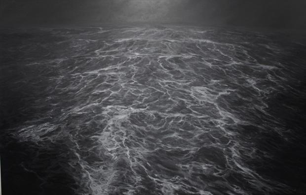 LE SILLAGE huile sur toile 200 x 300 cm