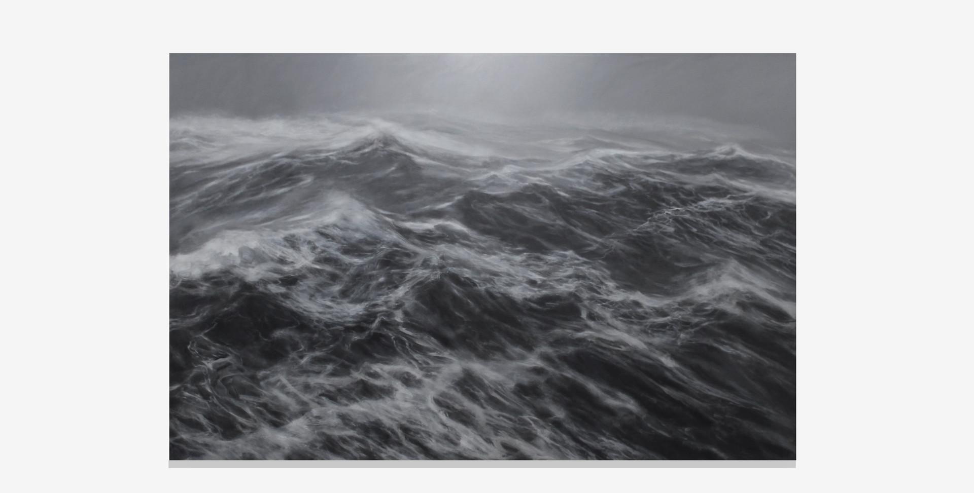 """200 x 300 cm huile sur toile 10.000 E """"Le royaume du vent"""" Fanco Salas Borquez"""