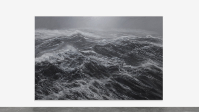 """200 x 300 cm huile sur toile """"Le royaume du vent"""" Fanco Salas Borquez"""