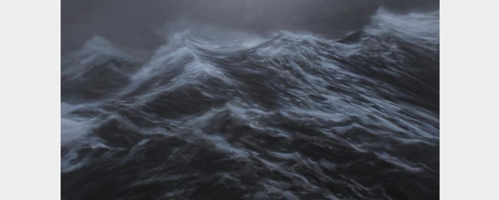 """200 x 300 cm huile sur toile  10.000 E """"La mer hostile"""" Franco Salas Borquez"""