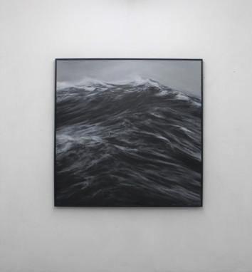"""130 x 130 cm huile sur toile  3800 E """"Lame"""" Franco Salas Borquez"""