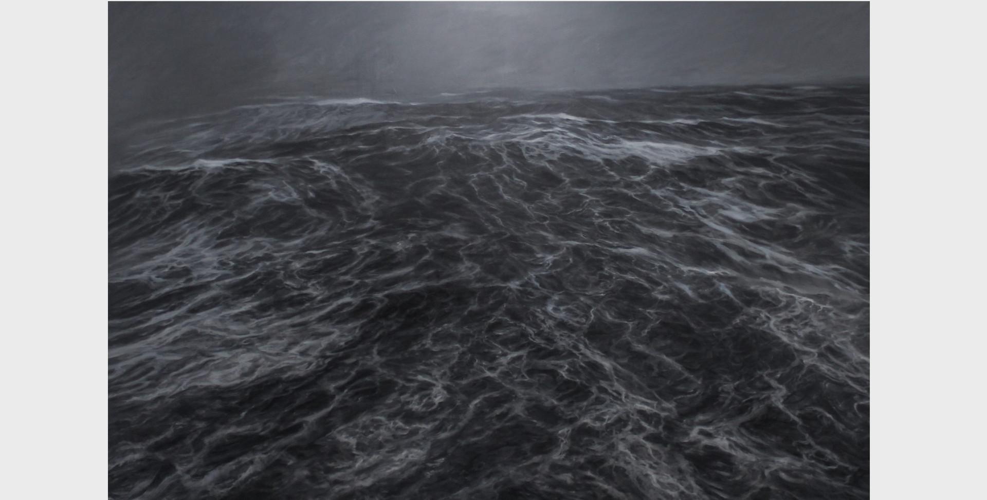 """200 x 300 cm huile sur toile 10.000 E """"Clameur sombre"""" Franco Salas Borquez"""