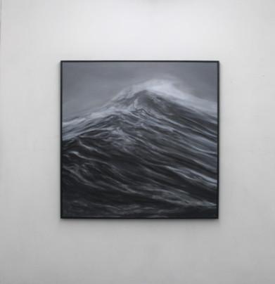"""130 x 130 cm huile sur toile 3800 E """"La force"""" Franco Salas Borquez"""