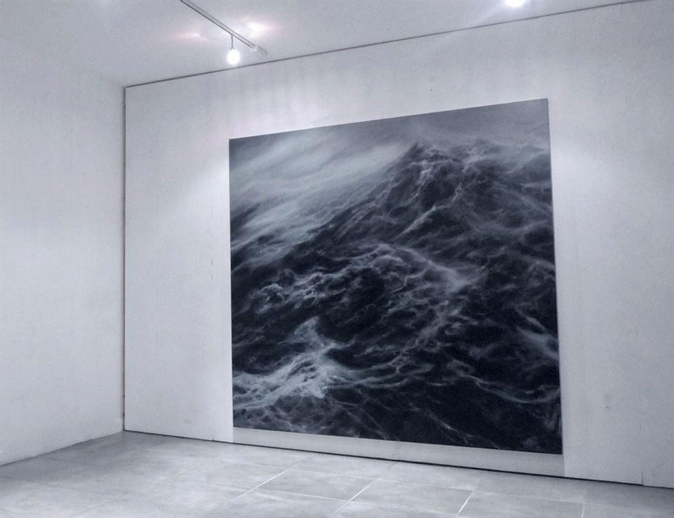 """200 x 200 cm huile sur toile  """"L'horizon perdu"""" Franco Salas Borquez Galeria ANIMAL"""