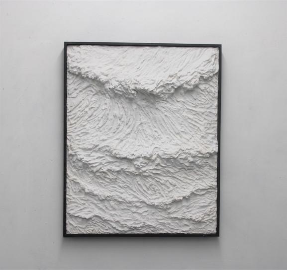"""90 x 80 cm Poudre du marbre CP """"Le battement perpetuel"""" Franco Salas Borquez"""