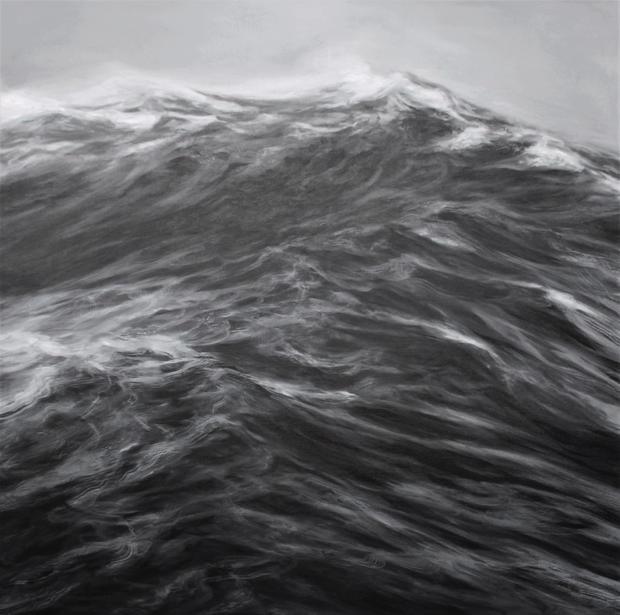 LA LAME huile sur toile 130 x 130 cm 201