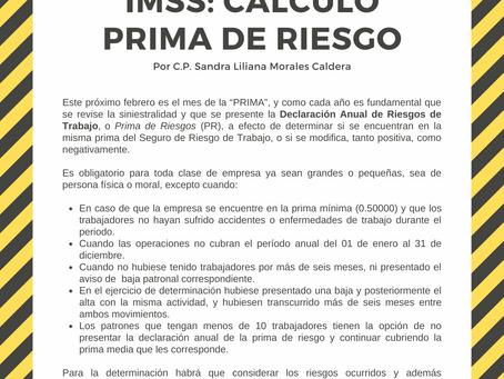 📣 IMSS: CÁLCULO PRIMA DE RIESGO