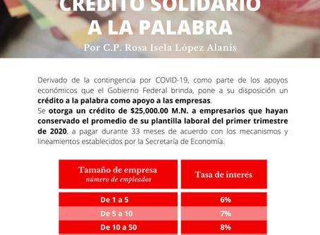 Boletín Informativo: Crédito Solidario a la Palabra