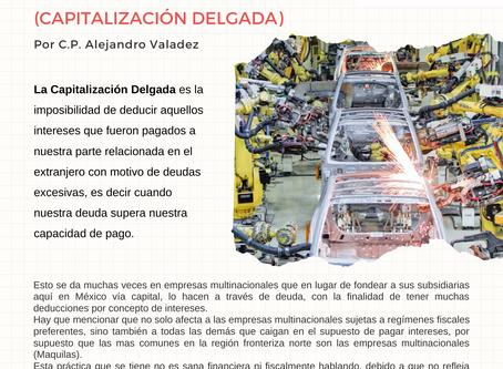 Boletín Informativo: CAPITALIZACIÓN DELGADA
