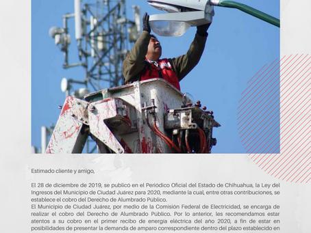 Boletín Informativo: Alumbrado Público (DAP) para el 2020