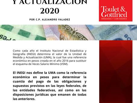 Boletín Informativo: Unidad de Medida y Actualización 2020