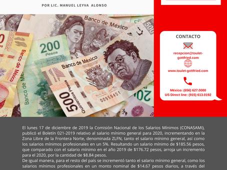 Boletín Informativo: Incremento al Salario Mínimo