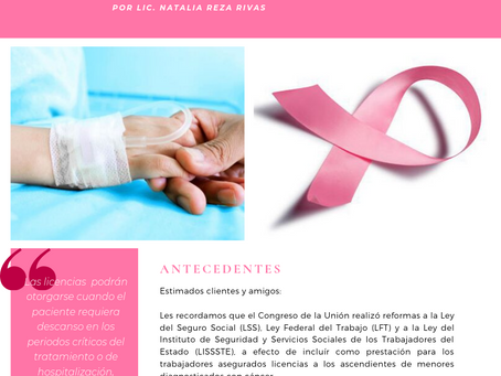 Boletín Informativo: Licencia por cuidados médicos de hijos (as).