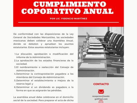 Boletín Informativo: 2020 Cumplimiento Corporativo Anual